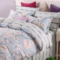 Wholesale Bedding Set Turquoise Floral Duvet Cover for Home Christmas Gift Soft Cotton Bedclothes Twin Full Queen King