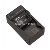 Cheap Camera Rechargeable Sj4000 Battery +Travel Sj4000 Charger for SJ4000 SJ 4000 with Double Slot Battery Charger