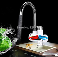 Wholesale 3000W Temperature Display Instant Hot Water Tap Tankless Electric Faucet Kitchen Instant Hot Faucet Water Heater Water Heating