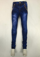 jeans lot - Tight Girl Jeans Middle East Style Hot Maps Fashion Selling Waist Tight Jeans Blue Quantity items per DHL