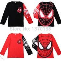 Wholesale Hot sale Kids Boys Baby Girls Spiderman Hero T shirt long Sleeve kids Tops cotton children s Clothes
