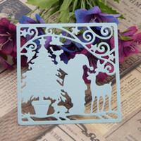 bamboo stencil - Scrapbook DIY Christmas cards photo album creation tools Die cut stencils cut Christmas Dies DM