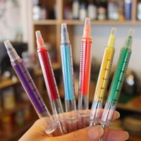 Wholesale Cute kawaii Fluorescent Syringe Watercolor Pens Highlighters Marker Pen Korean Stationery School Supplies