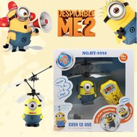 Wholesale Planes Aircraft Model Toy Children Kids Boy Toys Birthday Gift Despicable Me Minion Helicopter Remote Control