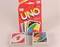 Wholesale Family Funny Entertainment Board Game UNO Fun Poker Playing Cards Puzzle Games Standard uno card g