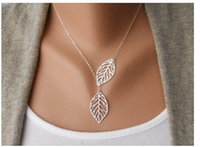 Wholesale Best price Simple Leaves Choker Necklace Collar Statement Necklace Women Jewelry