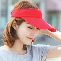 Wholesale FREE Outdoor sun hat Fashion New Women s sun hat Dual UV empty top hat Cycling hat cap