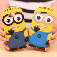 alpha soft - New D Cute Cartoon Despicable Me Minions Soft Silicone Cover Case For Samsung Galaxy Alpha G850 G850F mobile phone cover