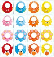 Wholesale BB1534 Cpw baby Adjustable Shower cap protect Shampoo for Cpw baby health Bathing bath waterproof caps hat child kid children Wash Hair