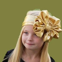 Headbands cotton belts - 2015 Kids Girls Big Bow Headwrap Baby girl Cotton Headbands Metallic Bow Belt infant babies fashion hairbands lovely hair accessories
