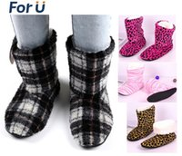 Wholesale New Winter warm indoor slippers women s at home slippers christmas deer boots women shoes home cotton slippers soft