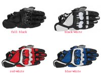 motorbike gloves - full black Motorcycle Gloves Motorcycle Accessories leather Gloves motorbike Gloves