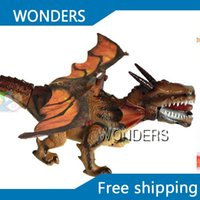 battery operated swing - New arrival Electric Dinosaurs models Walk Roar Swinging wings Mystical Dragon Toy For Childen Kids Toys Christmas Gift