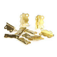 Wholesale 10pcs Special Design Mini Iron Butterfly Hinges Cabinet Drawer Door Butt Hinge Furniture Hardware Hinge