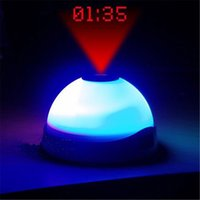Wholesale Digital LED Laser Snooze Projection Alarm Clock Time Christmas New Year gift