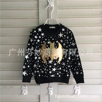 Wholesale Kid Clothing Logo - Children T-shirts For 2015 Autumn New Arrival Kids Clothing Boys Long-sleeved Popular Logo Fine Wool Round Collar T-shirtsCD224