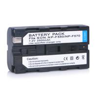 Wholesale 1pc New mAh Camera NP F550 Camcorder Battery for Sony NP F330 NP F530 NP F570 NP F730 NP F750 Hi