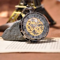 steampunk watch - Fashion Brand Mechanical Hand Wind Pocket Watch Steampunk Vine Men Watches Hotsale Watch Men Luxury Brand