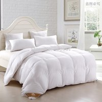 Wholesale kg Gross weight Organic Duck Down Heavyweight white quilted winter season Comforters cotton shell Single Full Queen king size