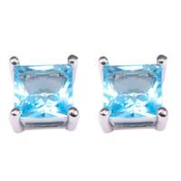 aquamarine chandelier earrings - Aquamarine Women Earrings Sterling Silver Newest Fashion Jewelry Earrings PE36