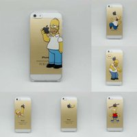 For Apple iPhone apple iphone decals - Simpson Hand grasp Snow White Pattern Back Decal Vinyl Skin Cover Hard Case Sticker for iPhone S S C S PLUS