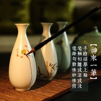 Wholesale JIXIANGJIA new Chinese style house of jingdezhen ceramic floret bottle hand painted porcelain craft flower arranging creative