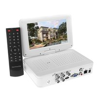 Wholesale Full D1 H All in one CCTV DVR Embedded quot LCD Monitor Support HDMI G P2P Cloud Mini NVR zmodo cctv System Channel