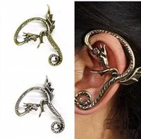 Wholesale 2016 fashion dragon shaped ear hook alloy exaggerated earrings ladies jewelry jewelry Nightclubs Factory outlets