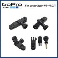 Wholesale New arrive CNC Aluminum Mount way Pivot Arm Set arms screw for Gopro hero gopro hero SJ4000 action camera