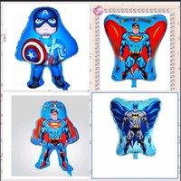Wholesale 4 STYLES Avengers Captain America superman batman Party Foil Balloons Inflatable Frozen Party Wedding Christmas Balloons frozenc768