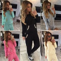 sexy tracksuit - NEW Sexy Womens Ladies Gold Chain Hoodies Jogger Tracksuit Sportwear Set