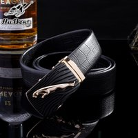 Wholesale Brand Designer belts for men leopard automatic buckle leather belt Buckle brand Designer Jeans Business suit mens luxury belts