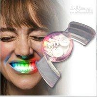Wholesale Flashing Mouth Teeth flashing LED light emitting dental crowns dentures Funny