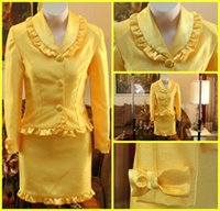 Cheap Yellow Girls Pageant Interview Suits Best Flower Childrens Clothes