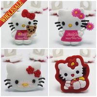 Wholesale Hot Sale Girls Love Hello Kitty Lovely Pens Pencil Case PVC Pen Caps Topper Decorative Caps Pens Topper School Office Supplies Gifts