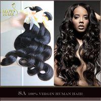Cheap Grade 6A Brazilian Virgin Hair Weaves Bundles Brazilian Body Wave Wefts Dyeable Tangle Free No Shedding Nature 1B Remy Human Hair Extensions
