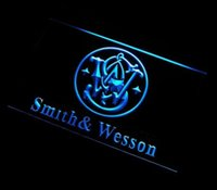Wholesale ys Smith Wesson Gun Firearms adv LED Neon Light Sign