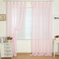 Wholesale For My Romantic Room Sweet Tulle Door Window Curtain Drape Panel Sheer Scarf Valances cortina sala Smile