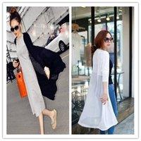 Wholesale Cheap New Style Women s Jackets Long Chiffon Sunscreen Clothing Cardigan Fashion Thin Coat Fashion Casual Streetwear LYZY