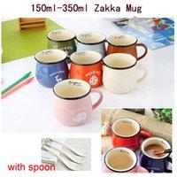 army coffee cup - 1601 Zakka Ceramic Mug ml ml Ceramic Mug Coffee Mug Milk Breakfast Cup Lovers Cute Gift Porcelain Cup Tea Cup For Sublimation