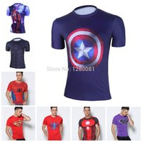 mma shirt - 2015 NEW Men s Compression Shirts Fitness Exercise Base Layer Tights Bodybuilding Training Running MMA Tops Shirt