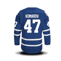 authentic factory - Factory Outlet MEN S Leo Komarov Ice Hockey Jersey HOME BLUE Authentic Leo Komarov Jersey Size S XL Accept Mix Order