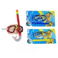 Wholesale Swimming Diving Protective Goggle Breathing Tube Snorkeling Mask Set blue red yellow