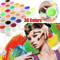 Wholesale Professional colors set Nail Gel Pure Colors Decor UV Gel Nail Art Tips Shiny Cover Extension Manicure Civi Nail Gel Polish