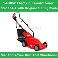 Wholesale Garden Power Tools W Electric Lawnmower SD with Original Cutting Blade Sier mowing with Lnet bag TUV lawnmower