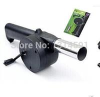 Wholesale Air Blower For Barbecue Fire Bellows Hand Crank Brand New Barbecue tools Cooking Ferramentas para churrasco Sopradores