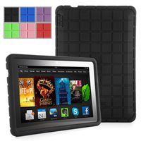 Wholesale Plaid Design Tablet Cases for Amazon Kindle Fire HDX7 Cases Bags Inch Silicone Protector Cases for Kindle Fire HD Covers