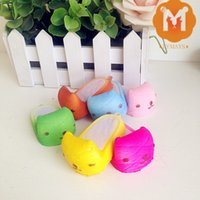 squishies - 30pcs Mini Kapibarasan Slipper Melon Bun Squishies Squishy Charm Key Chain