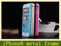 Wholesale Apple phone shell Apple iPhone6 arc metal frame metal frame hippocampus buckle