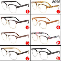 art lens - Retro Black Frame Sunglasses Semi Rimless Pattern Fan Art Sunglasses Mix Designs And Colors
